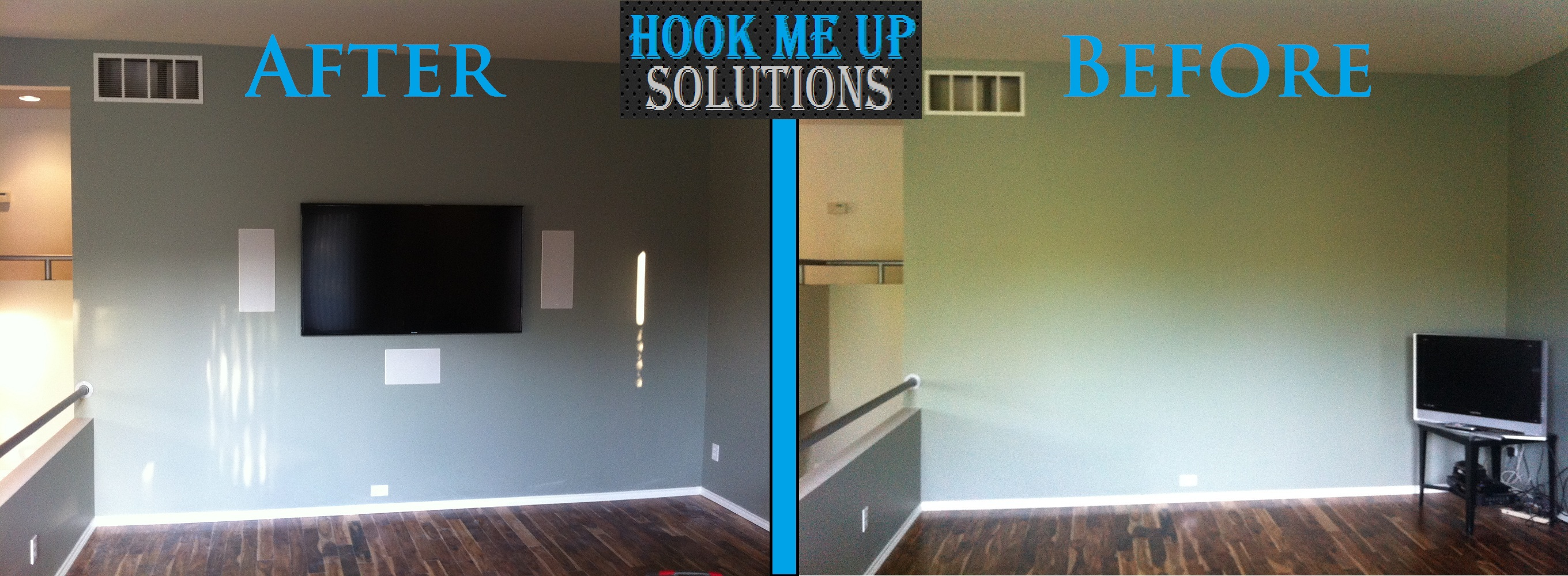 How To Mount A Tv On The Wall Custom Media Room